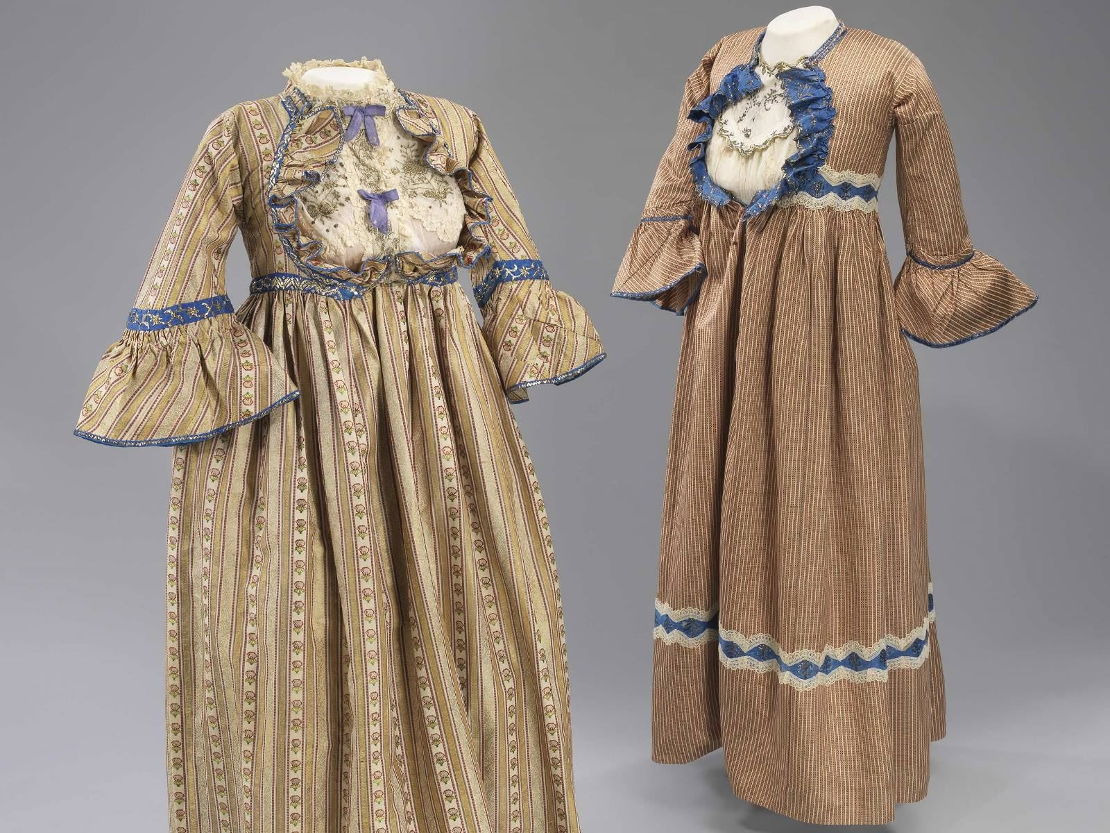 1880 Baghdad Wedding Dress (left) and 1881 Henna Dress (right), Image Courtesy of The Israel Musuem, Jerusalem