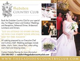 The Gadsden Country Club is a  World Class Wedding Venues Gold Member